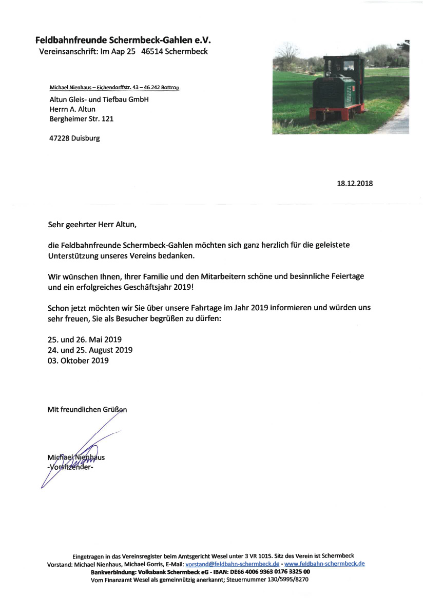 Feldbahnfreunde-Schermbeck-Gahlen-eV